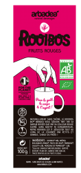 Thé rouge rooibos fruits rouges